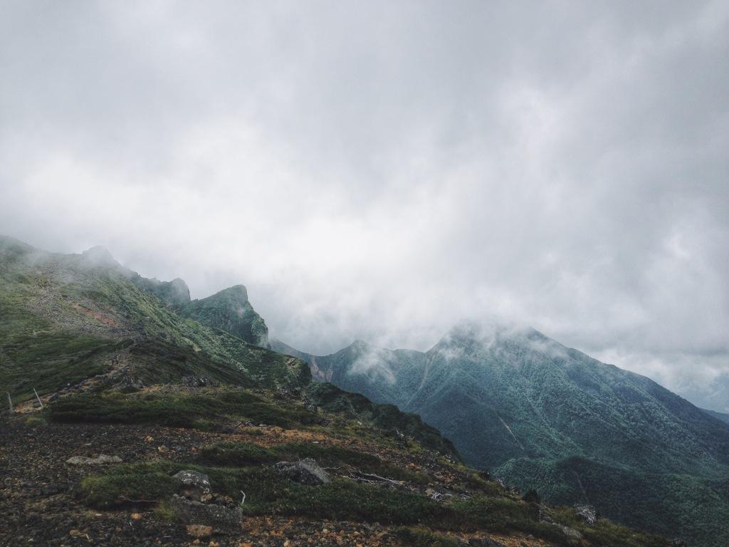 硫黄岳_横岳 稜線上から②